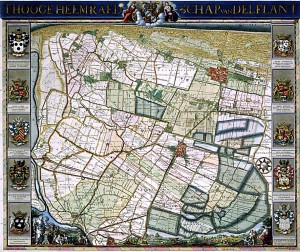 Cruquius kaart 1712 Delfland